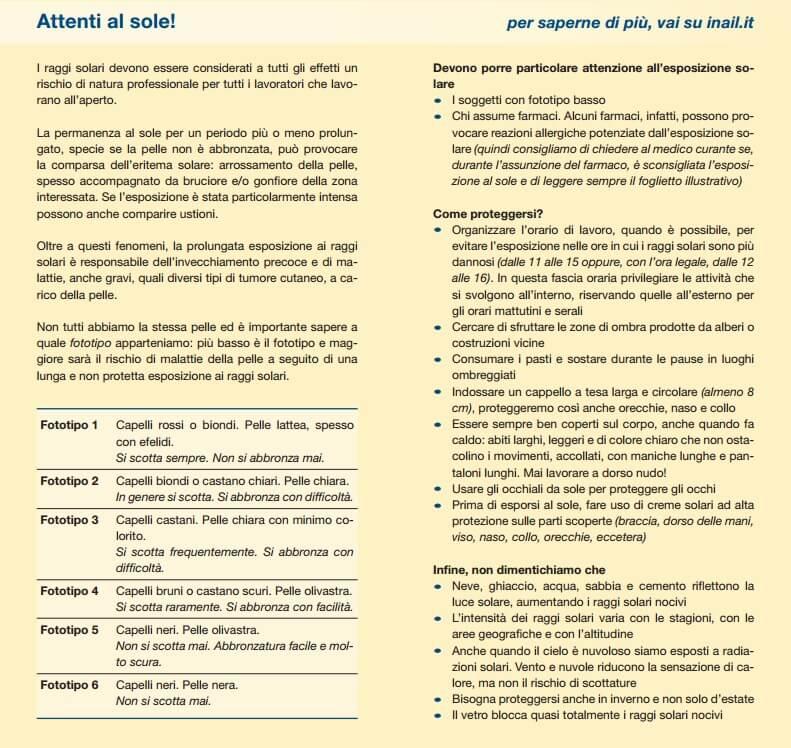 Radiazione solare ultravioletta: un rischio da non sottovalutare